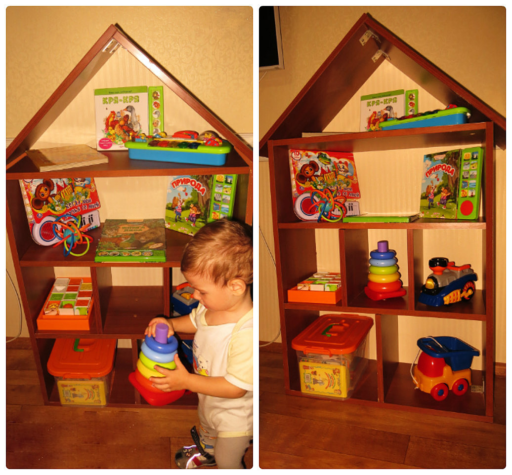 Полка для детских игрушек своими руками 15