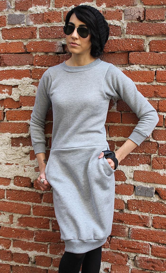 схема выкройки теплого платья для