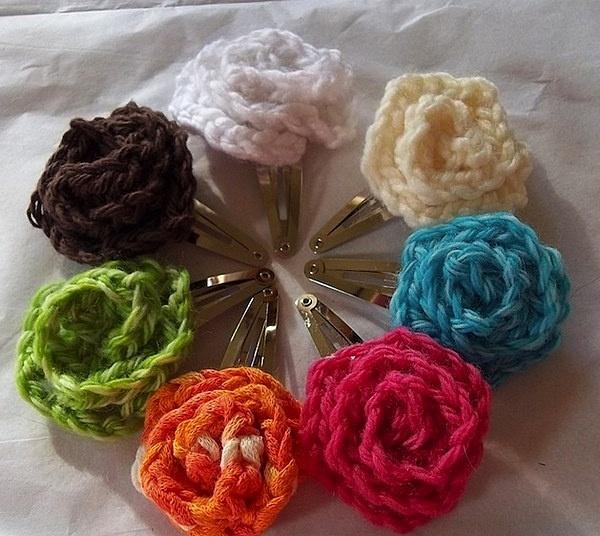 Заколки вязаные - лук пользователя Марина. Фото находится ...