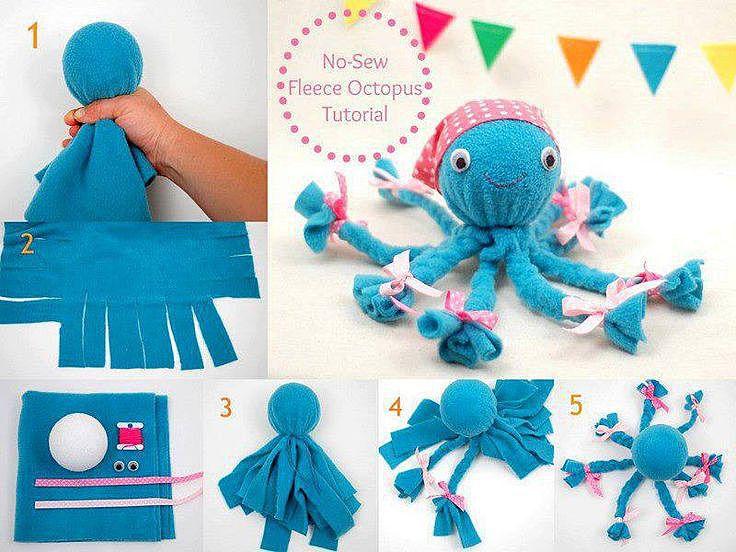 Как сделать из ткани осьминога своими руками