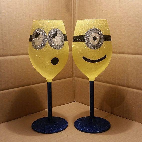 Как украсить бокалы своими руками фото к